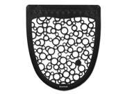 Urinal Mat 2.0, Rubber, 17 1/2 x 20, Black/White, 6/Carton UMBW 9SIA86E4T29289