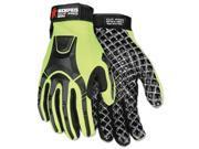 Cut Pro MC500 Gloves High Vis Lime Black X Large MC500XL