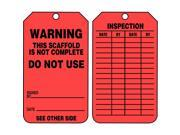 ACCUFORM SIGNS Warning Tag TRS322FTP