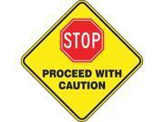 ACCUFORM SIGNS FLR SGN 17 DMND STOP PRCD W CTN PSR430