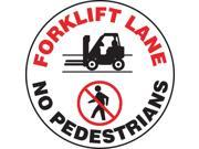 ACCUFORM SIGNS Floor Sign Forklift 17 In. Dia. MFS747