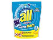 All ALL 24 pods Packet Fresh Scent Laundry Detergent, 6 Pack