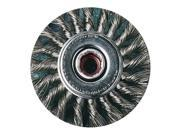 """United Abrasives-Sait Knot Wire Wheel Wire Brush, 4"""""""", Stainless Steel, 3431"""" 9SIA5D54W79484"""