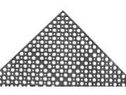 Apex Interlocking Drainage Mat, Rubber, Black, 5 ft. x 3 ft., 1 EA T13S0035BL 9SIV1946H00740