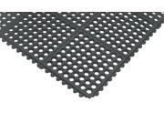 Notrax Interlocking Drainage Mat, Nitrile, Black, 5 ft. x 3 ft., 1 EA 550S0035BL 9SIA0SD1PG1227
