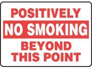 ACCUFORM SIGNS MSMK562VS No Smoking Sign,Adhsv Vinyl,10x14 In,Eng