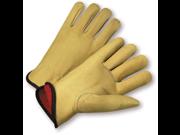 XLarge Premium Grain Pigskin Leather Fleece Lined Driver Gloves Dozen 9SIA0SD6NZ8435