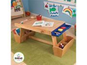 KidKraft Art Table with Drying Rack and Storage 26954