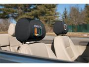 Miami Hurricanes Headrest Covers Set Of 2 9SIA00Y1997294