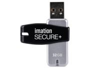 Imation Secure 32 GB USB 2.0 Flash Drive - Black, Silver