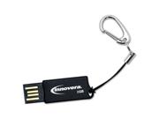 Innovera COB Flash Drive, 8 GB, USB 2.0, Black IVR38008