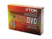 TDK Mini Digital Video Cassette, 60 Minutes TDK37140