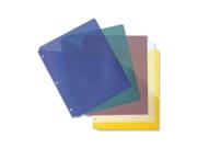 "Image of Binder Pockets Poly Letter 8-1/2""x11"" 5/PK Assorted"