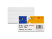 Index Card Ruled 8 Point 75 lb. 3 x5 100 PK White