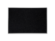 Ghent 4x6 Feet Recycled Rubber Durable Tackboard With Confetti Aluminum frame