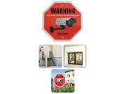 SecurityMan Surveillance Warning Signs, English (2 Pack) (Sign2PK-EN)