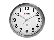Lorell Brushed Nickel-plated Atomic Wall Clock Digital - Atomic