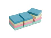 "Adhesive Notes,Plain,1-1/2""x2"",100 Sh/PD,12PD/PK,AST Pastel BSN16500"