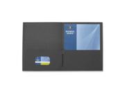 "Image of 2-Pocket Folders, 125 Sht Cap, Letter, 12""x9"", 25/BX, BLK"