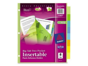 Avery Plastic Two-Pocket Insertable Tab Divider 1 ST