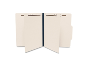 "SJ Paper S59700 Top Tab Economy Classification Folder - 8.50"" Width x 11"" Length Sheet Size - 8 Fastener - 1"" Folder Fastener Capacity - 6 Dividers - Manila - 25 / Box, 1 Box"