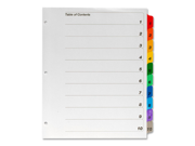Kleer-Fax Numerical Binder Index Divider 1 ST