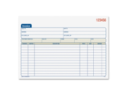 "Adams Carbonless Invoice Book - Tape Bound - 2 Part - Carbonless - 5.56"" x 7.93"" Sheet Size - Assorted - 1Each"