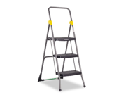 Cosco Commercial 3-Step Folding Step Stool, 300lb Duty, 20-1/2wx32-5/8dx52-1/8h, Gray