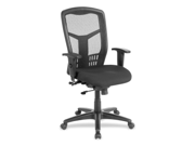 "Exec High-Back Swivel Chair, 28-1/2""x28-1/2""x45"", Black LLR86205"