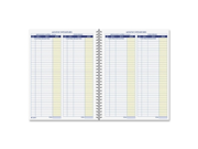 Adams AFR71 Monthly Bookkeeping Record Spiral Bound White Sheet s Blue Yellow Print Color 1 Each