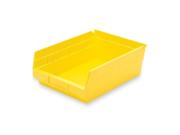 Akro Mils Shelf Bin 4 Height x 8.4 Width x 11.6 Depth Polypropylene Yellow