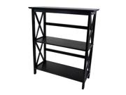 Montego 3 tier Bookcase Black