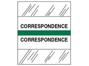 Tabbies TAB54524 Medical Chart Tabs, in. Correspondence in., 100-PK, Green Edge
