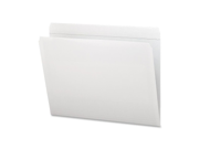 Smead Manufacturing Company SMD12810 File Folder- Straight Tab Cut- Letter- White