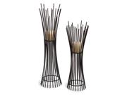 Set of 2 Metal Candleholder Duo 9SIABUV4S61705