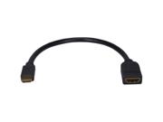 QVS High Speed HDMI Female to Mini HDMI Male Digital A/V HD Camera Conversion Cable