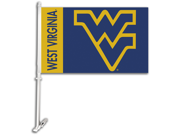 West Virginia Mountaineers Car Flag W/Wall Brackett Set of 2