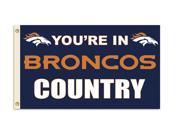 Fremont Die- Inc. 94132B 3 Ft. X 5 Ft. Flag W/Grommetts - Denver Broncos 9SIA00Y08C5977