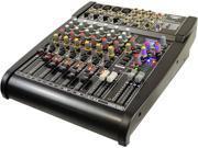 PylePro - Studio Grade 24 Bit 12 Channel Stereo Mixer w/Built-In FX Processor/Digital Effects