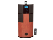 PyleHome - 600 Watt Digital 2.1 Channel Home Theater Tower w/ iPod/iPhone Docking Station - Cherry Wood Finish   (Refurbished)