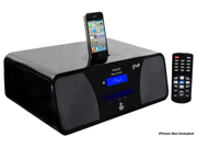 PyleHome - iPod/iPhone Alarm Clock Radio With High-Performance 2.1 Channel 200 Watts Speakers & Am/Fm Tuner  (Refurbished)