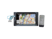 Lanzar - 6.5'' Double DIN In-Dash Touch-Slide Control Screen TFT/LCD Monitor w/ DVD/CD/MP3/MP4/SD/AM-FM/RDS/3D UI/ Bluetooth & Screen Dial Pad Built-In GPS/TTS w USA/Canada & Mexico Maps (Refurbished)