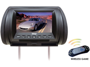 Pyle - Adjustable Hideaway Headrest 7'' TFT Video Monitor W/Built In  DVD/USB/SD Player & Wireless IR/FM Transmitter/ Built In 32 Video Game System (Refurbished