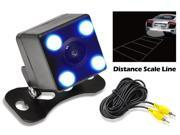Pyle Rear View Camera 0 Lux Night Vision LED Lights with Distance Scale Lines