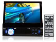 Pyle - 7'' Retractable Touchscreen Monitor & Receiver w/ iPod/MP3 Input, AM/FM, Bluetooth, SD Memory & USB Flash Readers