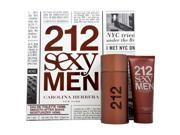 212 Sexy Men by Carolina Herrera for Men - 2 Pc Gift Set 3.4oz EDT Spray, 3.4oz Smooth After Shave Moisturizer