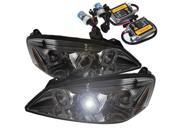 Pontiac G6 2/4DR 05-08 Halo Projector Headlights - Smoke + Pre-Installed 8000K HID Kit