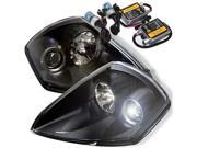 Mitsubishi Eclipse 00-05 Halo Projector Headlights - Black + Pre-Installed 8000K HID Kit