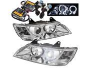 BMW Z3 96-02 Halo Projector Headlights - Chrome + Pre-Installed 8000K HID Kit