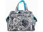 Ju Ju Be Be Prepared Messenger Tote Bag Charcoal Roses